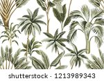 tropical vintage hawaiian palm... | Shutterstock .eps vector #1213989343