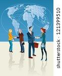business people shaking hands.... | Shutterstock .eps vector #121399510