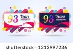 93 years pop anniversary modern ... | Shutterstock .eps vector #1213997236