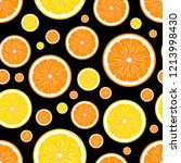 orange and lemon fruit slice... | Shutterstock .eps vector #1213998430