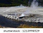 cliff geyser erupts  in upper... | Shutterstock . vector #1213998529