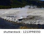 cliff geyser erupts  in upper... | Shutterstock . vector #1213998550