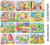 big set of fairy tale... | Shutterstock . vector #1214007469