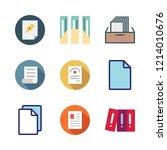 bureaucracy icon set. vector... | Shutterstock .eps vector #1214010676