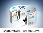 concept of business charts and... | Shutterstock . vector #1214020396