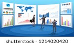 concept of business charts and... | Shutterstock . vector #1214020420