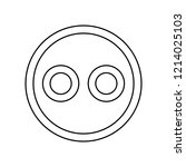 emoji icon. simple outline...