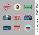 debit icon set. vector set... | Shutterstock .eps vector #1214026306