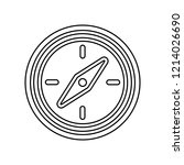 compass icon. simple outline...
