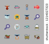 motion icon set. vector set... | Shutterstock .eps vector #1214027323