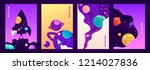 set of vector banners. space... | Shutterstock .eps vector #1214027836