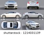 set white small sports car... | Shutterstock . vector #1214031139