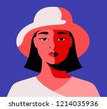 close up portrait of modern... | Shutterstock .eps vector #1214035936