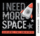 i need more space. slogan ... | Shutterstock .eps vector #1214036680