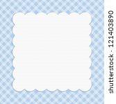 blue checkered celebration...   Shutterstock . vector #121403890