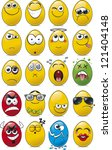 egg shaped emoticon collection | Shutterstock .eps vector #121404148
