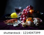 Still Life With Fruit  Wine An...