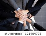 team work concept. business... | Shutterstock . vector #121404778