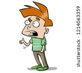 boy arguing and asking questions | Shutterstock .eps vector #1214063359