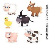 vector set of isolated farm... | Shutterstock .eps vector #121406506