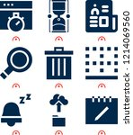simple set of  9 filled icons...