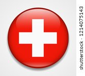 flag of switzerland. round... | Shutterstock .eps vector #1214075143