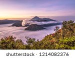 misty morning at mount bromo | Shutterstock . vector #1214082376