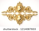 3d rendering beautiful golden... | Shutterstock . vector #1214087833