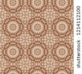seamless color lace pattern.... | Shutterstock . vector #1214112100