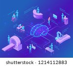 artificial intelligence in... | Shutterstock .eps vector #1214112883