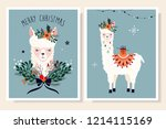 christmas greeting cards... | Shutterstock .eps vector #1214115169