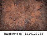 illustration of texture of rust.... | Shutterstock . vector #1214123233