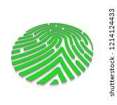 3d fingerprint texture on white ...   Shutterstock . vector #1214124433