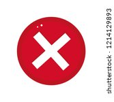 cross button vector... | Shutterstock .eps vector #1214129893