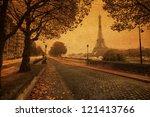 Vintage Style Picture Of Paris...