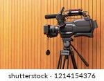 high definition cinema camera... | Shutterstock . vector #1214154376