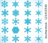 snowflakes icon collection | Shutterstock .eps vector #121415530