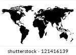 world map illustration. vector... | Shutterstock .eps vector #121416139