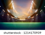 lights at night and stadium 3d... | Shutterstock . vector #1214170939