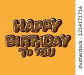 creative birthday design for... | Shutterstock .eps vector #1214171716