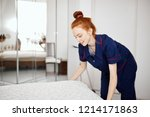 attractive ginger haired... | Shutterstock . vector #1214171863