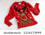 christmas sweater with pattern... | Shutterstock . vector #1214173999