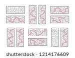 a set of rectangular mazes.... | Shutterstock .eps vector #1214176609
