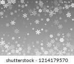 snow flakes falling macro... | Shutterstock .eps vector #1214179570