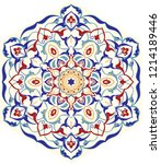 Floral, hand drawn Mandala. Hand drawn pattern in turkish style. Islam, Arabic, Indian, ottoman motif. Isolated decorative element for card design, t-shirt print, ceramic tile.