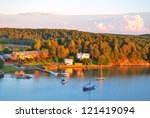 finland. sunset  in the... | Shutterstock . vector #121419094