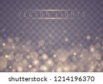 light abstract glowing bokeh... | Shutterstock .eps vector #1214196370