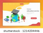 global education service.... | Shutterstock . vector #1214204446