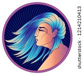 virgo zodiac sign  horoscope ... | Shutterstock .eps vector #1214210413