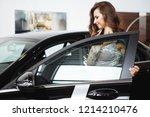 nice beautiful girl with long...   Shutterstock . vector #1214210476